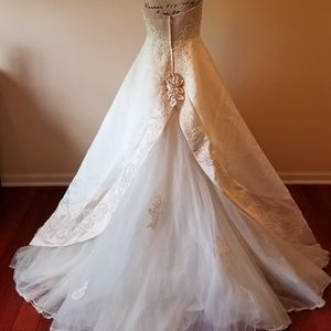 Mon Cheri Wedding Dress with Detachable Train